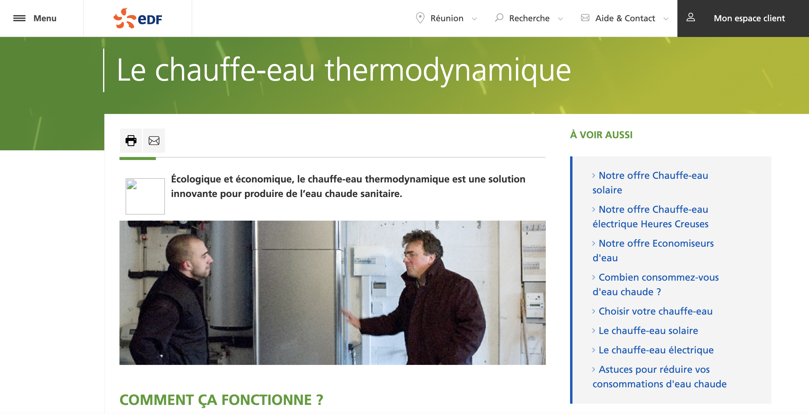 article EDF thermodynamique